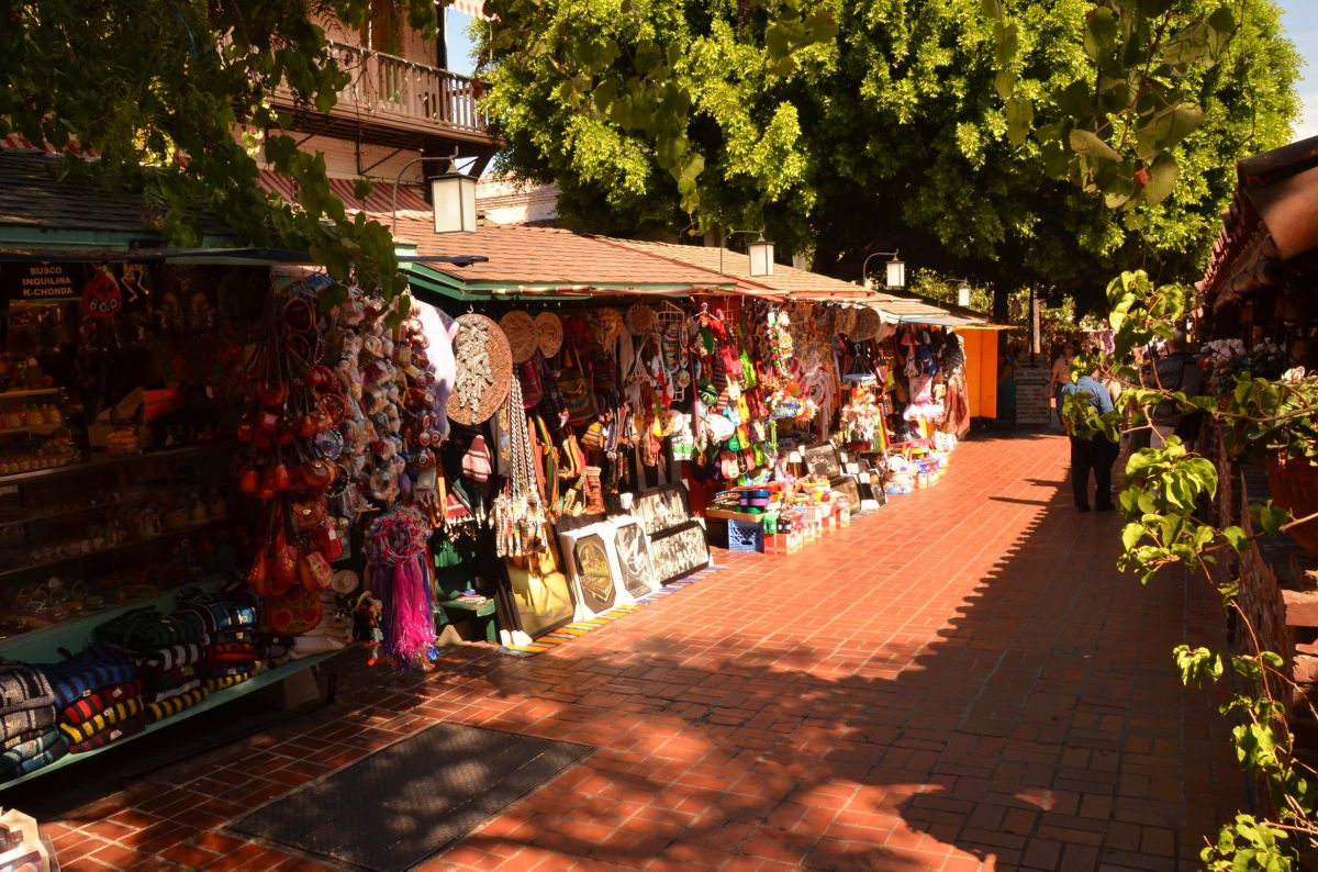 Olvera Street in Los Angeles, CA