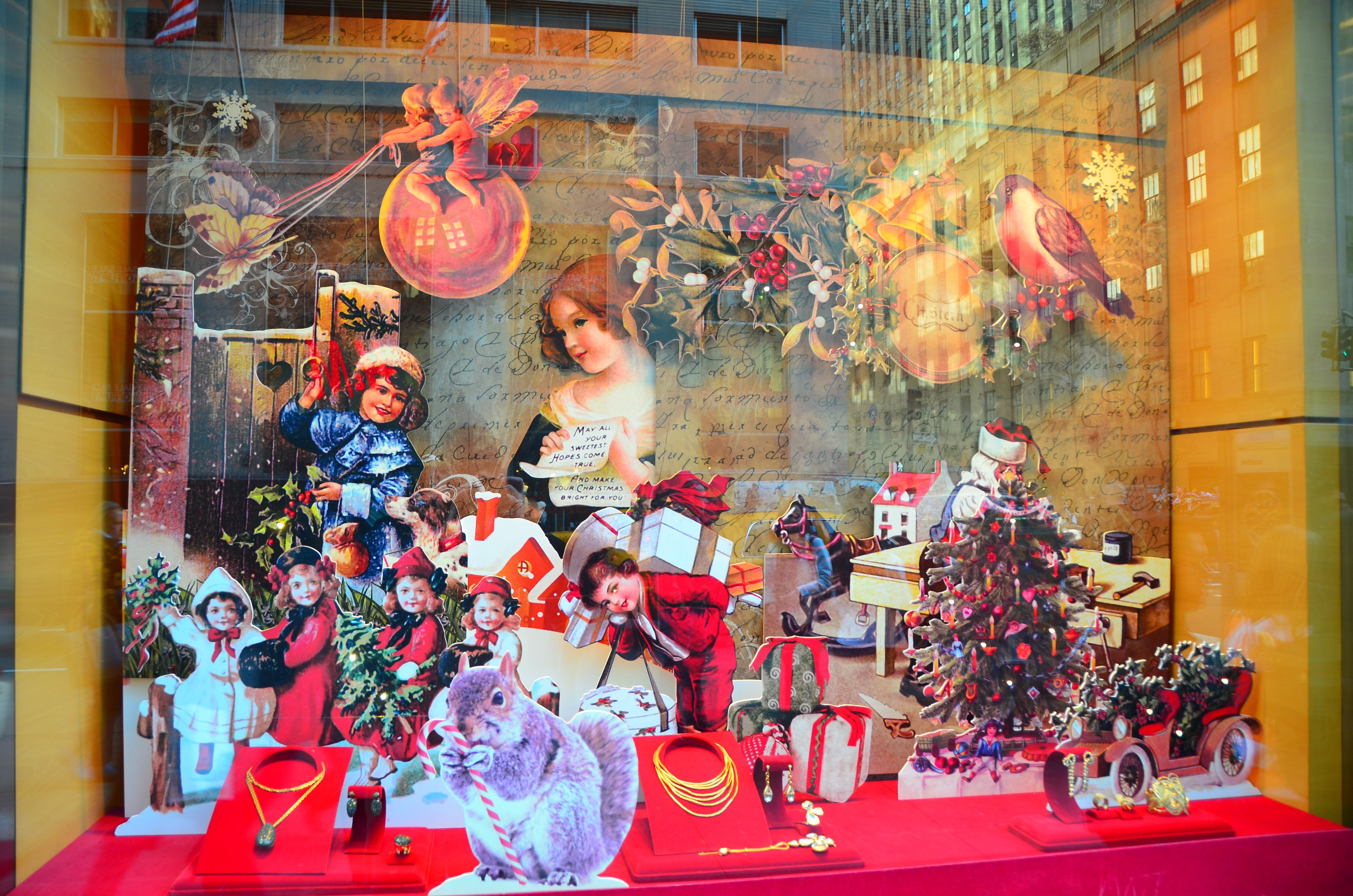 Christmas Window Decorations In Nyc Photograph | christmas w