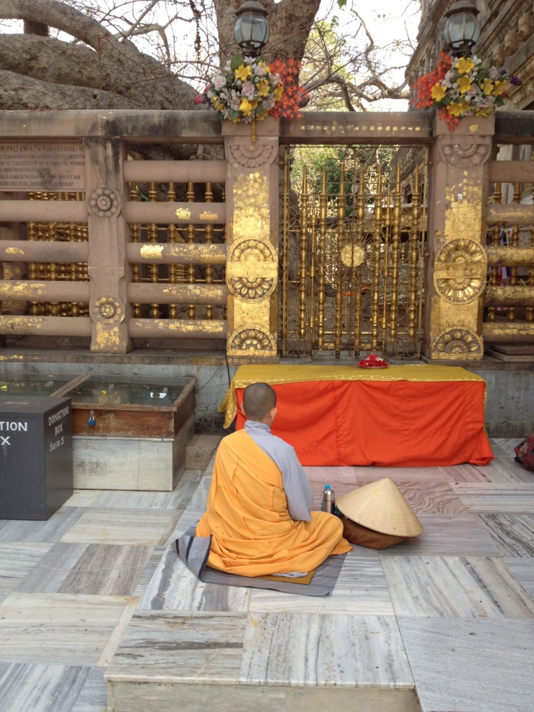 I was moved by this young monk's devotion at the site of Buddha's enlightenment.