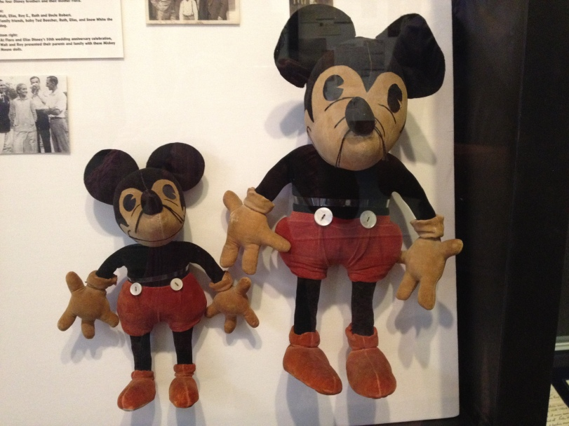 Original Mickey Mouses that Walt gave to his parents.