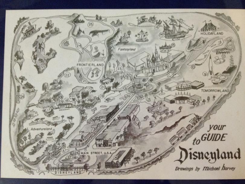 Vintage Disneyland map
