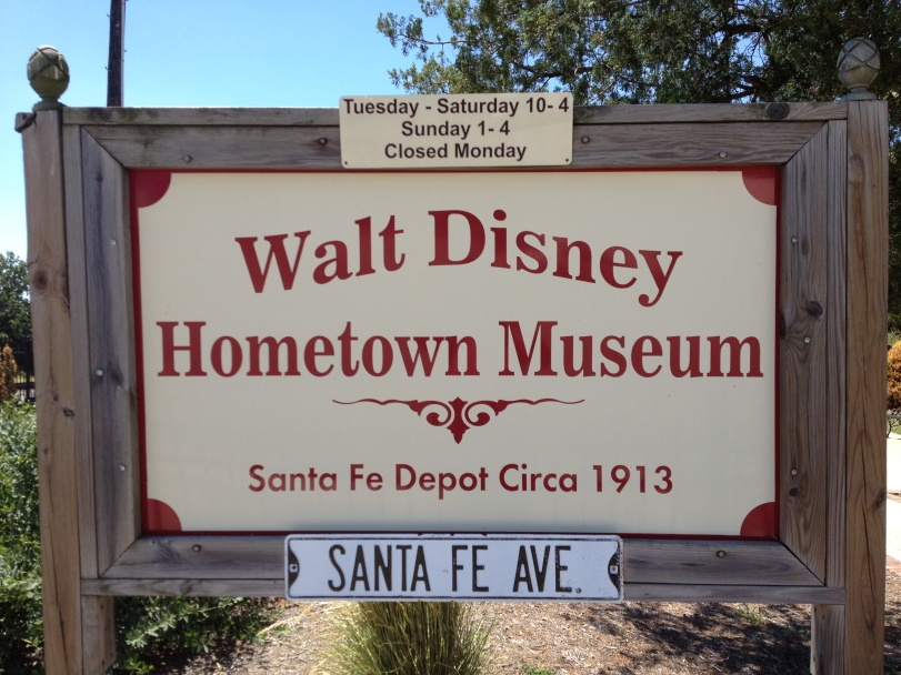 Walt Disney Hometown Museum sign
