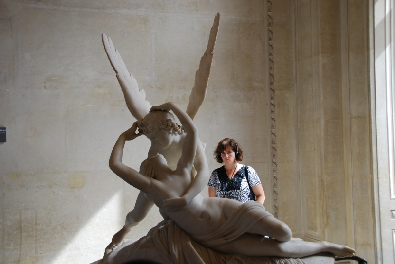 Look how hard I am concentrating while at the Louvre in Paris.  It takes all my brainpower to absorb what I can!