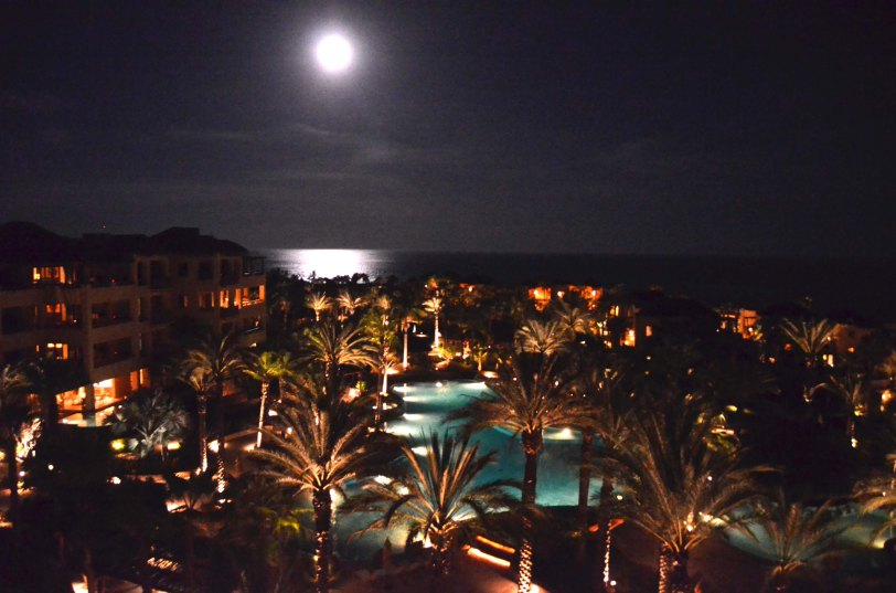 Esperanza from our room at night.