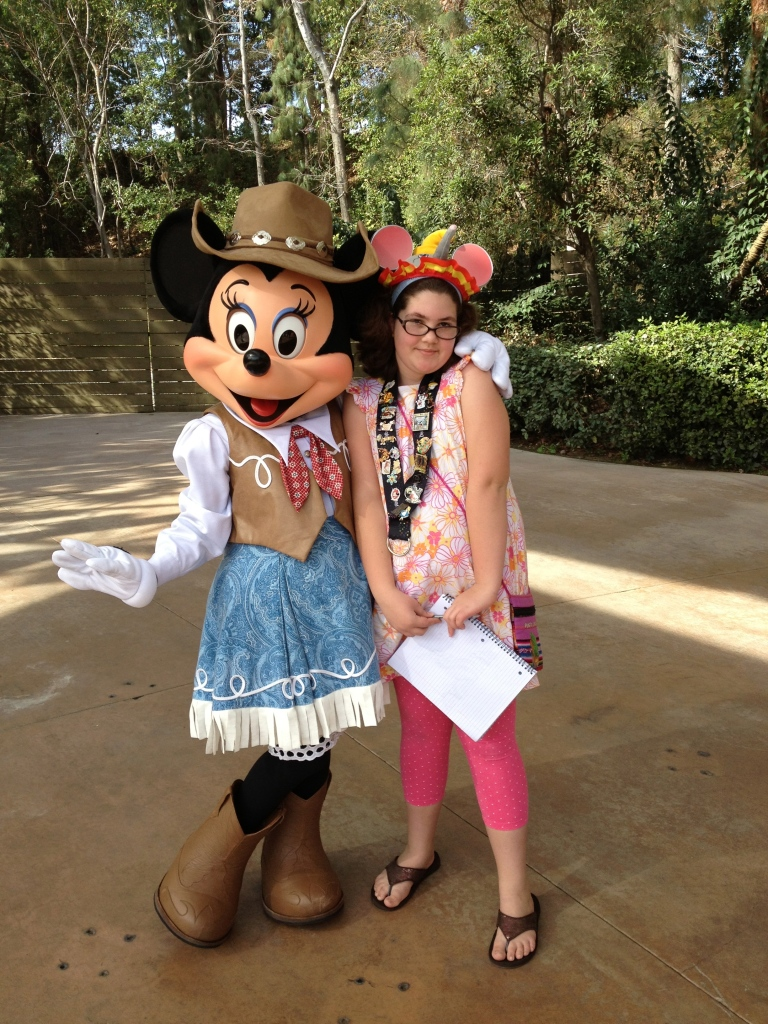 With Frontier Minnie