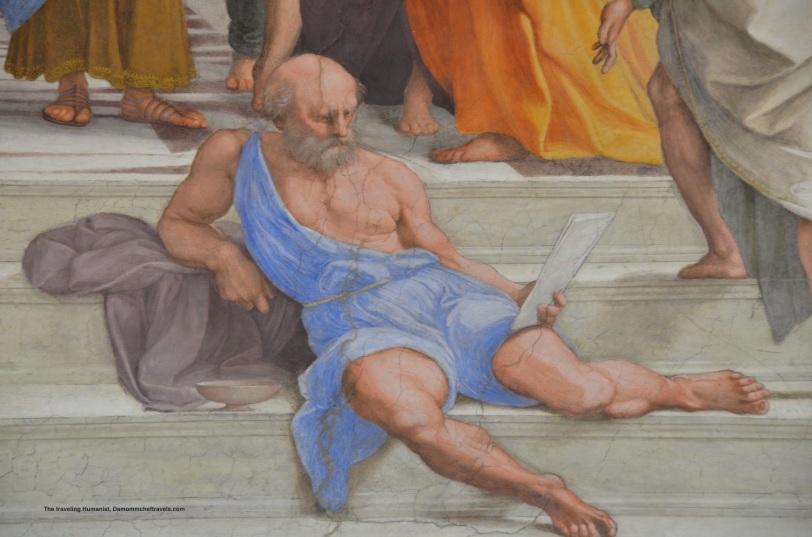 detail of Raphael's School of Athens in Vatican City, Rome